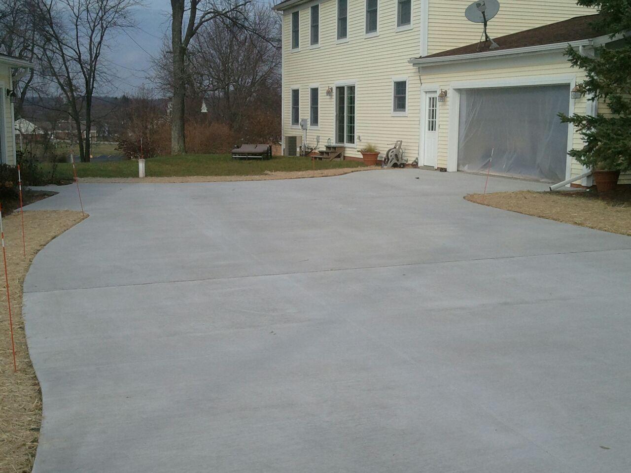 New Concrete Driveway In Davisburg Michigan Cumming