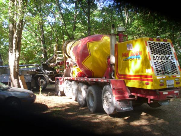 Residential Basement Concrete Pump Truck, Oxford, Michigan - Cumming