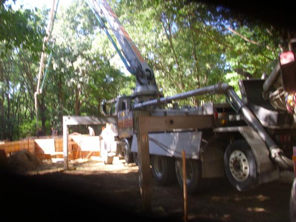 Residential Basement Concrete Pump Truck, Oxford, Michigan